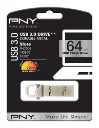 PNY HOOK ATTACHE 64 GB USB 3.0 MOBILE DISK DRIVE