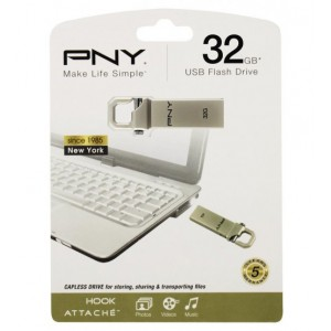PNY HOOK ATTACHE 32 GB USB 3.0 MOBILE DISK DRIVE