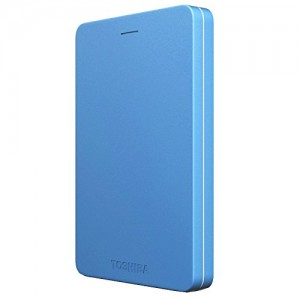 TOSHIBA EXTERNAL HDD CANVIO ALUMY 2TB, BLUE