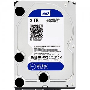 "WD 3TB INTERNAL HARD DRIVE (BLUE) 3.5"" SATA 5400RPM"