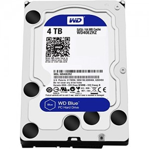 "WD 4TB INTERNAL HARD DRIVE (BLUE) 3.5"" SATA 5400RPM"
