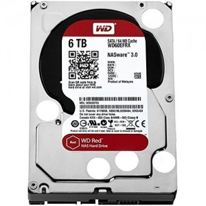 "WD 6TB INTERNAL HARD DRIVE (RED) 3.5"" SATA 5400RPM (WD60EFAX)"