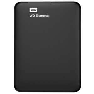 WD 1TB EXTERNAL HDD ELEMENTS, BLACK