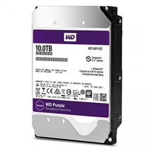 "WD 10TB SURVEILLANCE HARD DRIVE (PURPLE) 3.5"" SATA"