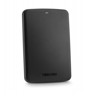 TOSHIBA EXTERNAL HDD CANVIO ALUMY 1TB, BLACK