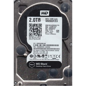 "WD 2TB INTERNAL HARD DRIVE (BLACK) 3.5"" SATA 7200RPM"