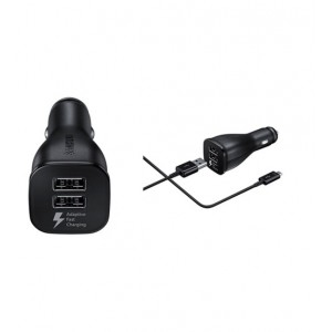 Samsung Adaptive Fast Charging Dual-Port Vehicle Charger