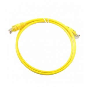 CAT6 U/UTP PATCH CORD (UNSHIELDED, , YELLOW, 1M)