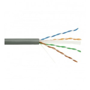 CAT6 4 PAIR U/UTP CABLE (305M, UNSHIELDED, PVC, GRAY)