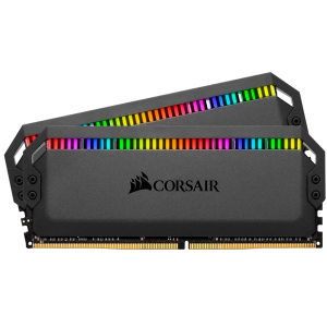 CORSAIR DOMINATOR® PLATINUM RGB 32GB (2 x 16GB) DDR4 DRAM 3200MHz C16 Memory Kit