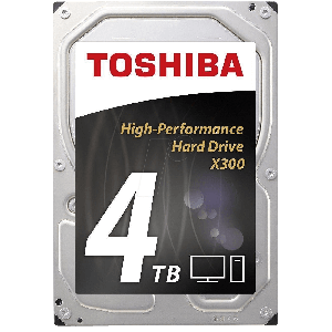 "TOSHIBA 4TB INTERNAL HARD DRIVE 3.5"" SATA 7200RPM"