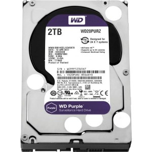 "WD 2TB SURVEILLANCE HARD DRIVE (PURPLE) 3.5"" SATA"