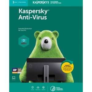 Kaspersky Anti-Virus (3 User | 1 Year License)