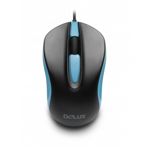 Delux DLM-137BU USB Black Blue Optical Mouse