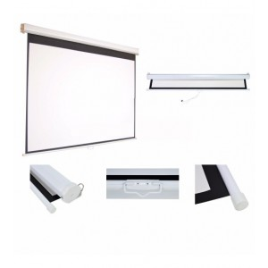 MEKI PROJECTOR SCREEN # 70 X 70 MANUAL WALL MOUNT