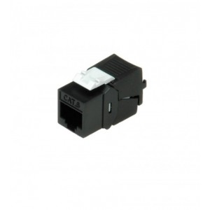 CAT6 KEYSTONE JACK (UNSHIELDED, BLACK)