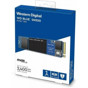 WD SOLID STATE DRIVE SN550 (BLUE) 1TB M.2 NVME # WDS100T2B0C