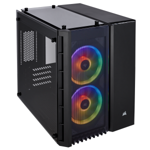 CORSAIR CASING Crystal Series 280X RGB Tempered Glass Micro ATX Black CASE # CC-9011135-WW