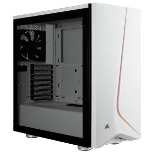 Corsair Carbide SPEC-06 RGB Tempered Glass Case — White/Black