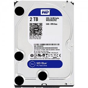 "WD 2TB INTERNAL HARD DRIVE (BLUE) 3.5"" SATA 5400RPM"
