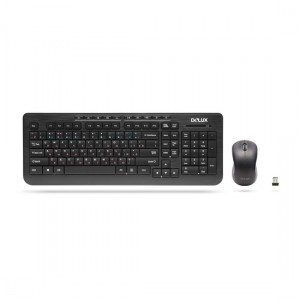 Delux DLK-3100G+M102GB Combo Wireless Multimedia Keyboard