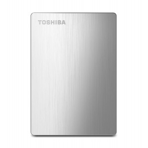 TOSHIBA EXTERNAL HDD CANVIO ALUMY 1TB, SILVER