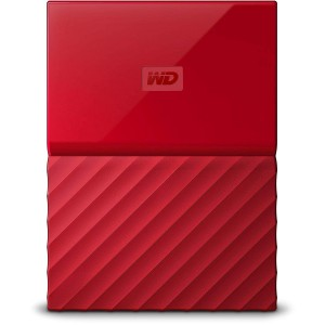 WD 1TB EXTERNAL HDD MY PASSPORT NEW, RED