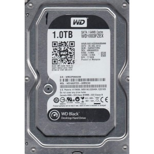 "WD 1TB INTERNAL HARD DRIVE (BLACK) 3.5"" SATA 7200RPM"