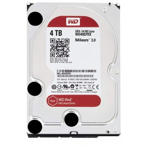 "WD 4TB INTERNAL HARD DRIVE (RED) 3.5"" SATA 5400RPM (WD40EFRX)"