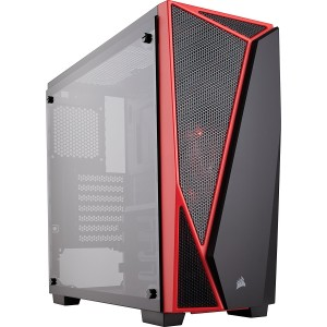 Corsair Carbide Series SPEC-04 Tempered Glass Mid-Tower Gaming Case — Black/Red