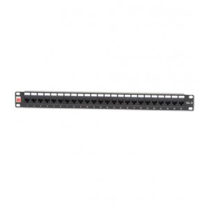 CAT6 24 PORT PATCH PANEL (UNSHIELDED, LOADED)