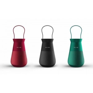 Microlab Lighthouse True Wireless Portable Speaker and Lantern (Black,Red,Green)