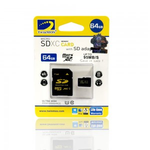 TwinMOS 64GB MICRO SD CARD CL-10