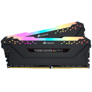 CORSAIR VENGEANCE® RGB PRO 16GB (2 x 8GB) DDR4 DRAM 3000MHz C15 Memory Kit — Black