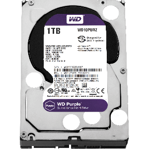 "WD 1TB SURVEILLANCE HARD DRIVE (PURPLE) 3.5"" SATA"