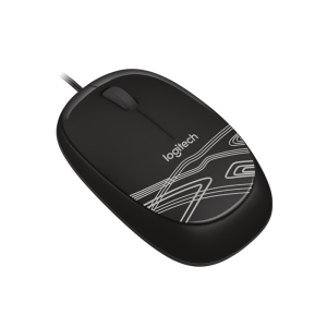 Logitech Mouse M105 Black / White / Red