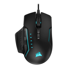Corsair GLAIVE RGB PRO Gaming Mouse — Black/Aluminum (AP)