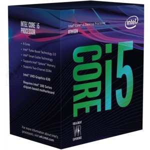 Intel® Core™ i5-8400 Processor 9M Cache, up to 4.00 GHz