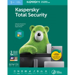 Kaspersky Total Security 2021 (1 User | 1 Year License| PC / Mac)